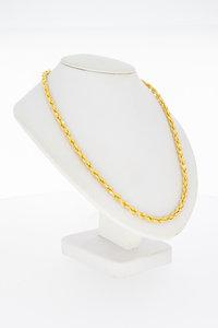 14 Karaat gouden gevlochten Koord schakelketting - 85 cm