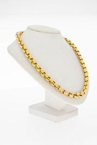 14 Karaat geel gouden Jasseron schakel Collier - 45,5 cm