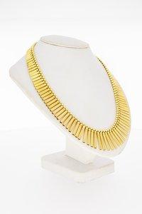 18 Karaat geel gouden Zonnestraal Staafjes Collier - 44 cm