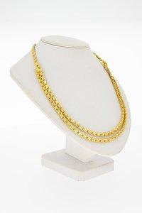 18 Karaat geel gouden Sleep schakel Collier - 45,3 cm