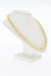 14 Karaat geel gouden Jasseron schakelketting - 51 cm
