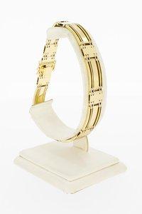 14 Karaat geel gouden Staafjes schakel armband- 21,4 cm