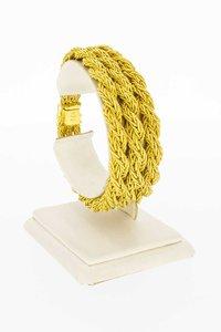 18 Karaat gouden Byzantijns gevlochten armband - 19 cm