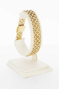 14 Karaat geel gouden gevlochten armband - 20 cm