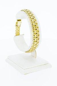 14 Karaat gouden gevlochten schakelarmband - 19,2 cm