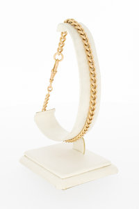 18 Karaat Rose gouden Gourmet schakelarmband - 23,5 cm