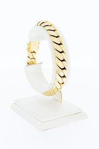 14 Karaat gouden bol gewalste Gourmet armband - 19,4 cm