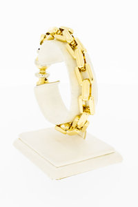 18 Karaat gouden Vierkanten schakelarmband - 19,8 cm