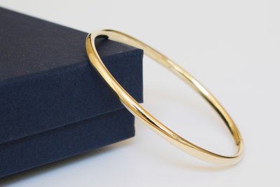 14 Karaat gouden Slavenarmband met dubbelklikkend bakslot