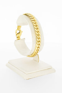 14 Karaat gouden gewalste Gourmet armband - 19,6 cm