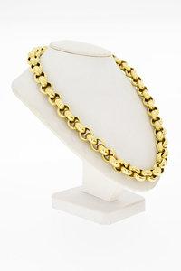 14 Karaat geel gouden Jasseron schakelketting - 50,2 cm