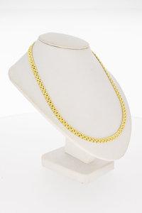 14 Karaat geel gouden Matjes schakel Collier - 44,5 cm