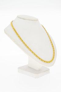 18 Karaat geel gouden Valkoog schakelketting - 50,8 cm