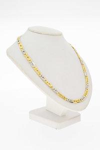 18 Karaat bicolor gouden Rolex schakel Collier - 40 cm