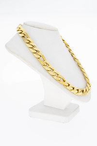 18 Karaat gouden (bewerkte) Figaro schakel Collier - 43,5 cm