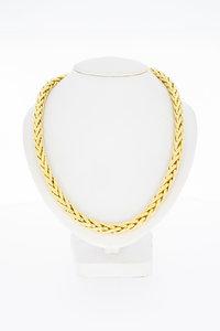 18 karaat gouden Vossenstaart schakel Collier - 45,5 cm