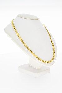 14 Karaat geel gouden Matjes schakel Collier - 44 cm