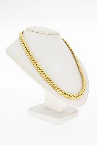 14 Karaat geel gouden gewalst Gourmet Collier - 47,2 cm