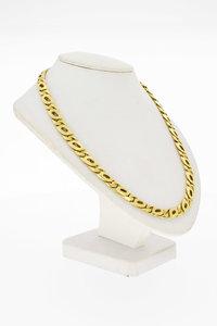 14 Karaat geel gouden Valkoog schakelketting - 55,5 cm