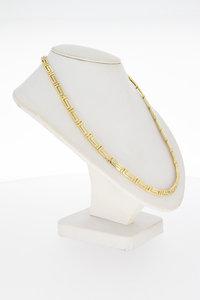 14 Karaat gouden  VERSACE Style  schakel Collier- 44 cm