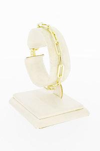 14 Karaat gouden Close Forever schakelarmband - 17,4 cm