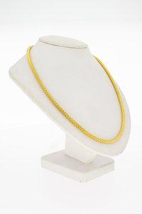 18 Karaat geel gouden Slangen schakelketting - 71,5 cm