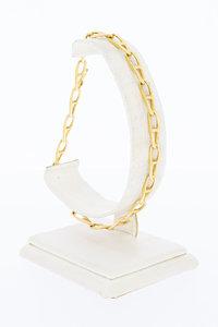 18 Karaat geel gouden Anker schakelarmband - 23 cm