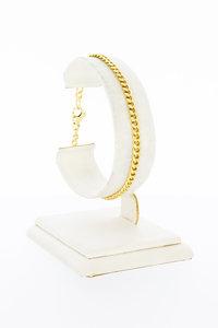 14 Karaat gouden gewalste Gourmet schakelarmband - 19 cm