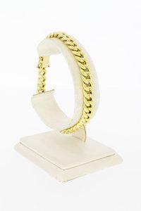 14 Karaat gouden Gourmet schakelarmband - 19,6 cm