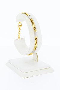 14 Karaat gouden bicolor gouden Gourmet armband - 19,2 cm