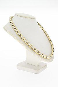 14 Karaat bicolor gouden Anker Collier - 45,5 cm