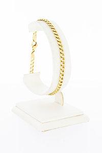 14 karaat gouden Gourmet Armband met Diamant - 21,7 cm