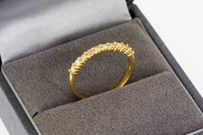 Geel Gouden Rijring met Diamant