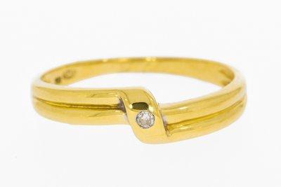 18 K Gouden Ring 0.01 crt Diamant