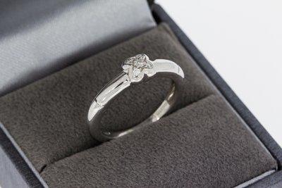 18 Karaat witgouden Fantasiering gezet met Diamant