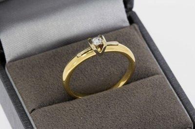 14 Karaat Le Chic Bicolor Gouden Ring met Diamant