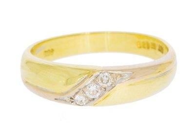 14 Karaat geelgouden Fantasie Ring gezet met Diamant
