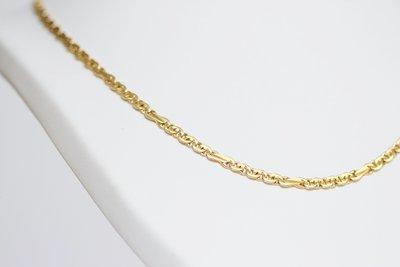 14 karaat geelgouden Valkoog schakelketting - 51 cm