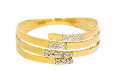 18K Gouden Slagring met Diamant