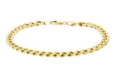 14 Karaat geelgouden Gourmet Schakel Armband - 19,5 cm
