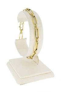 14 Karaat geelgouden Closed Forever Armband - 20 cm