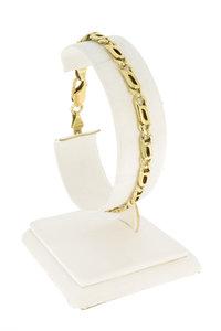 14 karaat geel gouden Valkoog schakelarmband - 19,5 cm