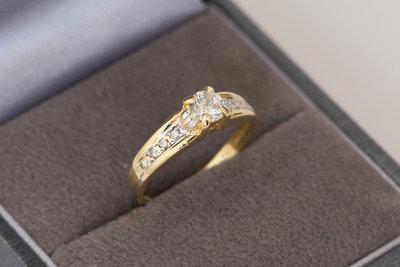 18 karaat bicolor gouden ring met 0.27 crt Diamant - 15,6