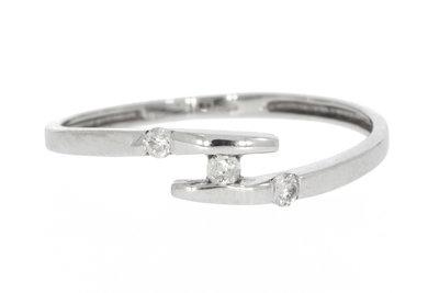 18 karaat witgouden Slagring met Diamant