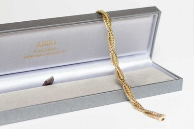 14K gouden Dubbel Koord Armband -19 cm