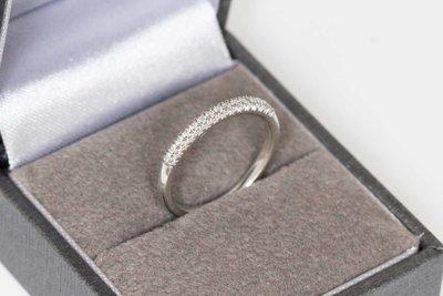 14 Karaat witgouden Alliance ring gezet met Diamant
