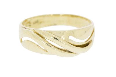 14K geelgouden fantasie ring