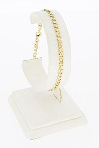 14 Karaat gouden open Gourmet schakel armband - 20 cm