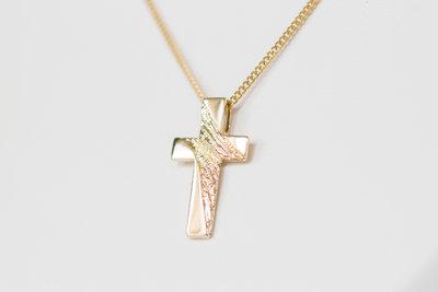 14 K gouden kruis - kettinghanger