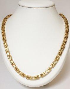 14K gouden koningsketting (byzantijns vierkant)
